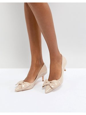 Dune london kitten heel shoe with bow
