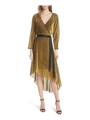 DVF eloise asymmetrical wrap dress
