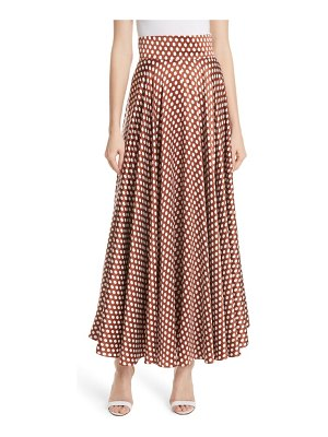 DVF high waist dot maxi skirt