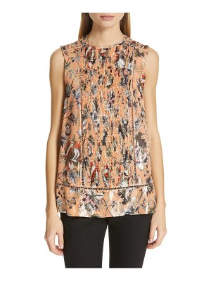 DVF lottie metallic detail sleeveless silk blend blouse