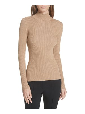 DVF metallic mock neck sweater