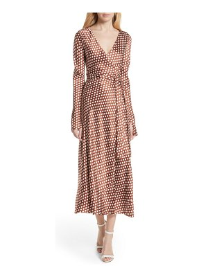 DVF polka dot silk wrap dress