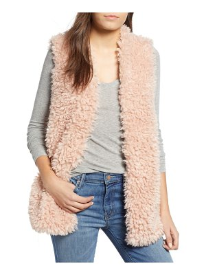 Dylan fuzzy chic faux shearling vest