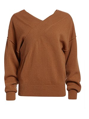 Each X Other wrapped off-the-shoulder wool & cashmere sweater