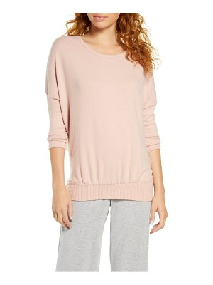 Eberjey 'cozy time' slouchy long sleeve tee