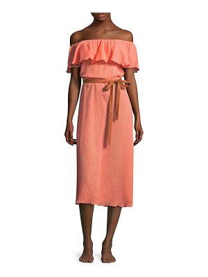 EBERJEY Nomad Florence Cotton Midi Dress