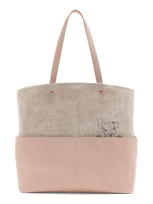 ED Ellen DeGeneres henlee canvas & leather tote