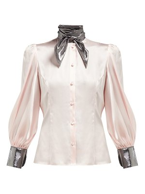 EDELTRUD HOFMANN nico high neck silk blouse