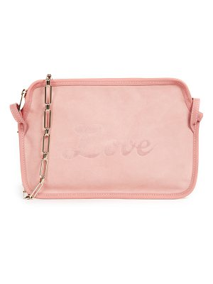 EDIE PARKER Amy Love Suede Cross Body Bag