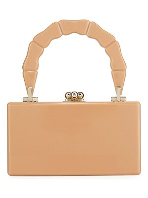Edie Parker Jean Bamboo Top-Handle Clutch Bag