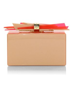 Edie Parker wolf ribbon clutch