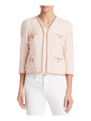 EDWARD ACHOUR Braid-Trimmed Short Jacket