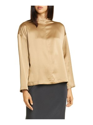 Eileen Fisher funnel neck silk top