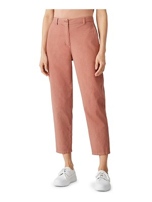 Eileen Fisher high-waist tapered ankle pants