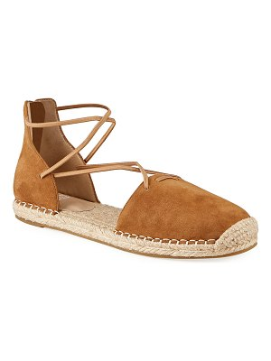 Eileen Fisher Lace d'Orsay Flat Suede Espadrilles