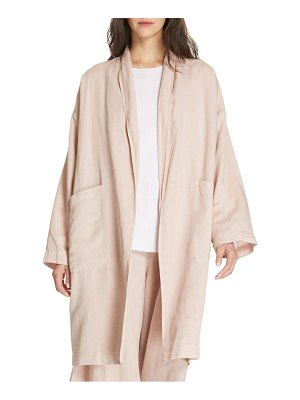 Eileen Fisher long open front coat