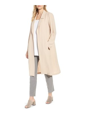 Eileen Fisher long silk jacket