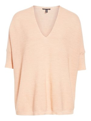 Eileen Fisher merino wool three quarter sleeve sweater