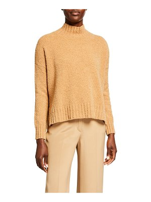 Eileen Fisher Organic Cotton Boucle Turtleneck Box Sweater