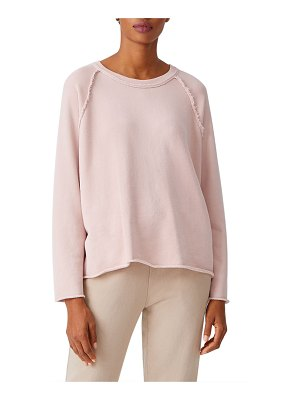 Eileen Fisher Organic Cotton French Terry Crewneck Box Top
