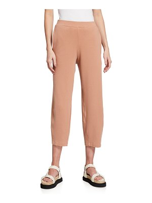 Eileen Fisher Organic Cotton French Terry Lantern Ankle Pants