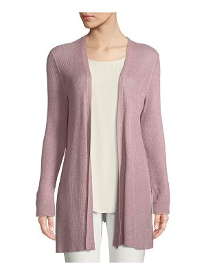 Eileen Fisher Organic Linen/Tencel Open Cardigan