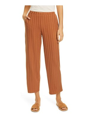 Eileen Fisher ribbed knit straight leg ankle pants