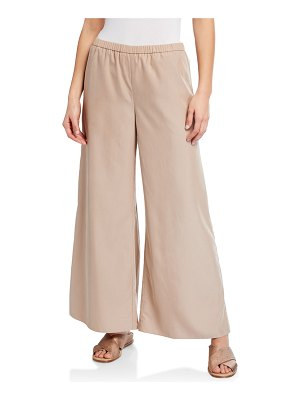 Eileen Fisher Sandwash Wide-Leg Pants