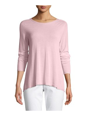 EILEEN FISHER Sleek Seamless Jewel-Neck Top