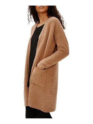 Eileen Fisher straight pocket wool cardigan