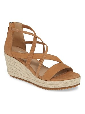 Eileen Fisher wanda cross strap wedge sandal