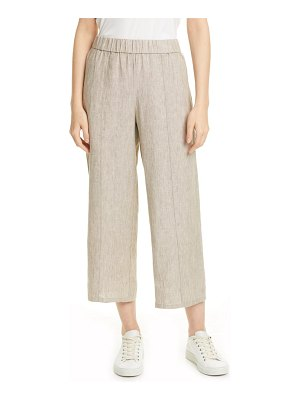Eileen Fisher wide leg crop organic linen pants