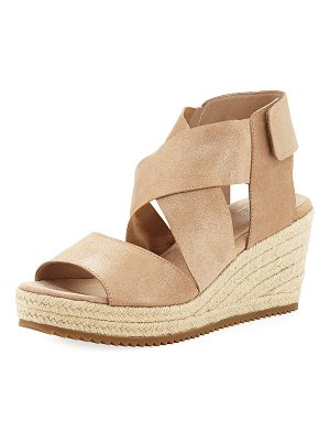 Eileen Fisher Willow Starry Suede Wedge Espadrille Sandals