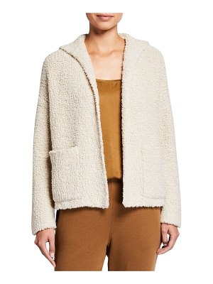 Eileen Fisher Wool-Blend Hooded Boxy Cardigan