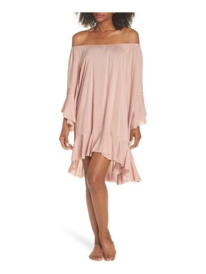 Elan off the shoulder cover-up dress