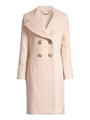 Elie Tahari athena double breasted brushed wool-blend coat