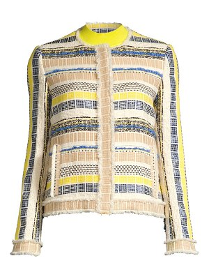Elie Tahari ceanna striped tweed jacket