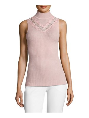 Elie Tahari cheresia wool turtleneck tank top