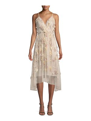 Elie Tahari Lisandra Floral-Applique Dress