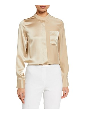 Elie Tahari Nine Long-Sleeve Silk Shirt
