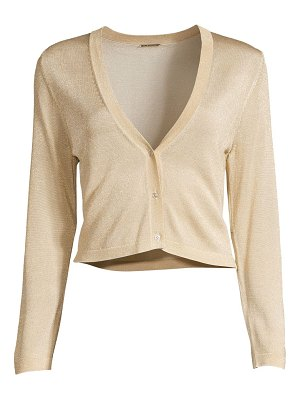 Elie Tahari ruby metallic knit cardigan