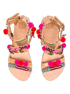 Elina Linardaki Leather Gipsy Spell Sandals