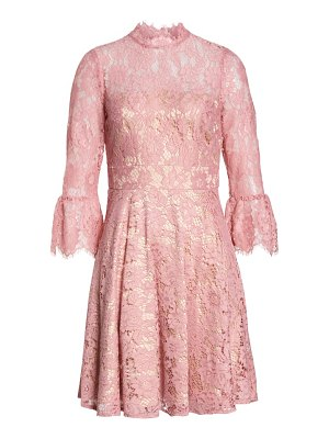 Eliza J bell sleeve lace fit & flare dress