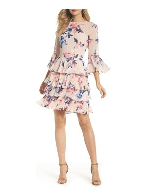 ELIZA J Bell Sleeve Tiered Dress