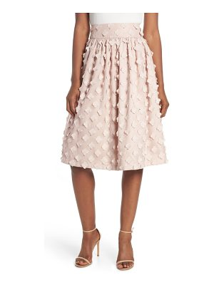 Eliza J flower texture gathered skirt