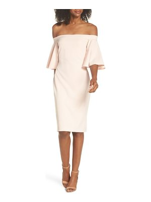 Eliza J off the shoulder sheath dress