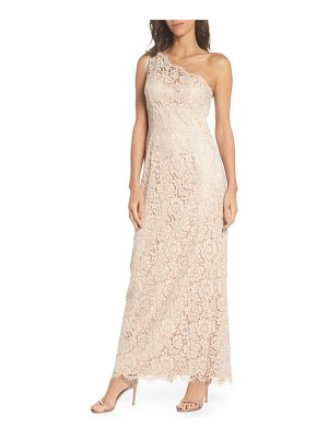 ELIZA J One-Shoulder Lace Gown