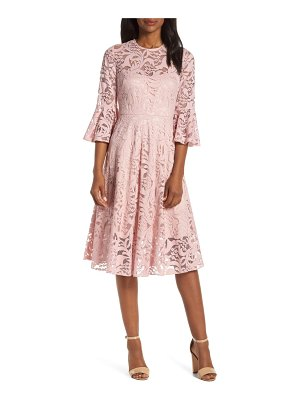 Eliza J ruffle sleeve fit & flare lace dress