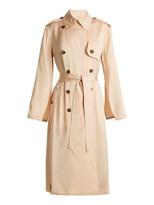 Elizabeth and James Aaron Double Breasted Tie Waist Trench Coat