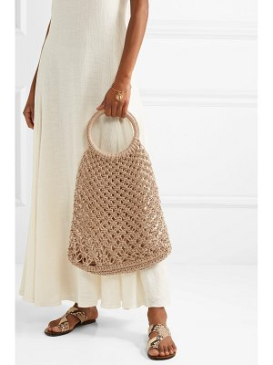 Elizabeth and James alfonso macramé tote
